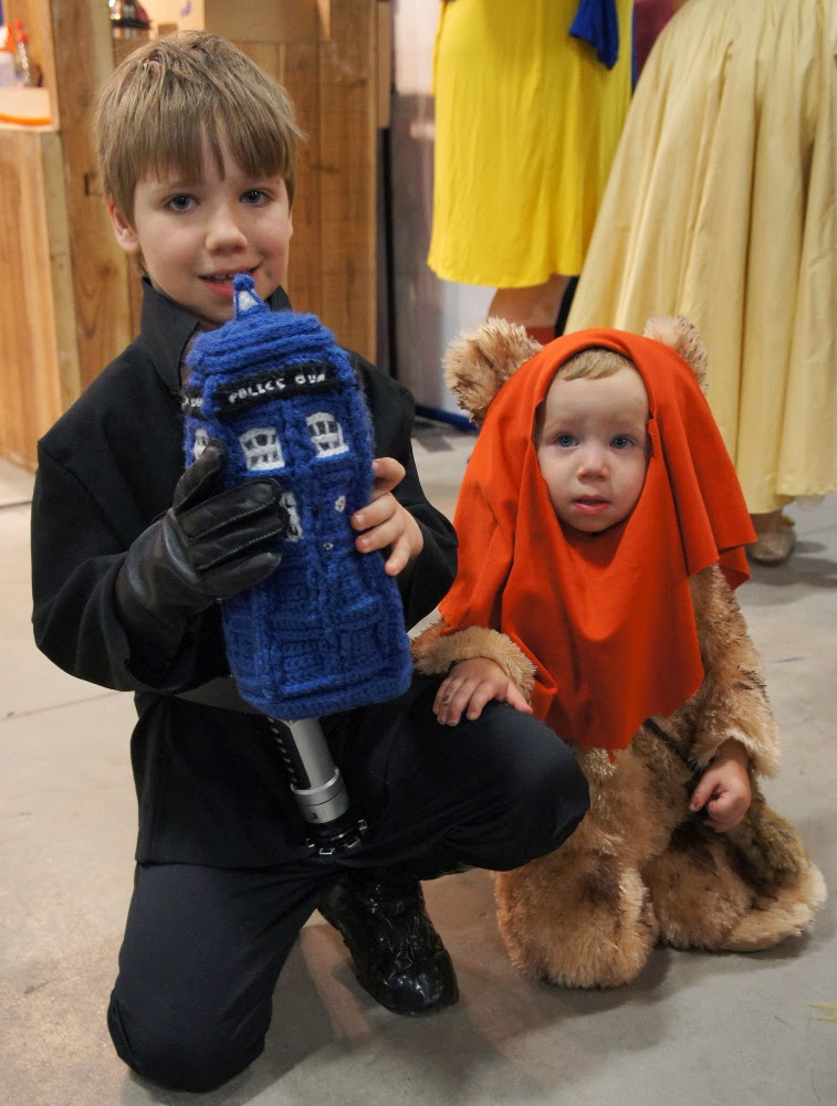 Luke Skywalker and Ewok
