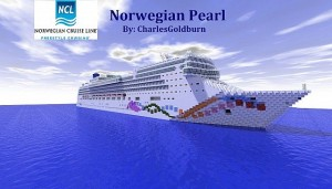 The Norwegian Pearl in Minecraft scale. Image from www.static.planetminecraft.com