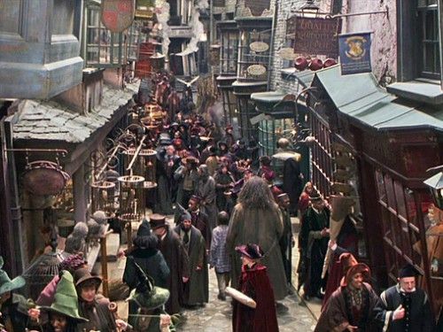 A real-life Diagon Alley in Ithaca! I want to go!