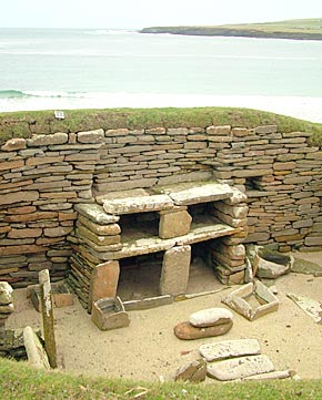 The interior of a dwelling. Image courtesy of Orkneyjar.com