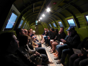 Interior of fuselage of C47 at Dead Man's Corner Museum