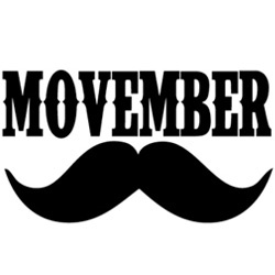 Movember - grow a mustache or beard to support Prostate Cancer research. Image from www.francoischarron.com/