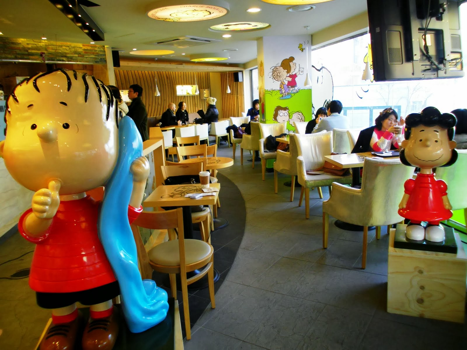 The interior of the Charlie Brown Cafe. Image from blogspot.com.