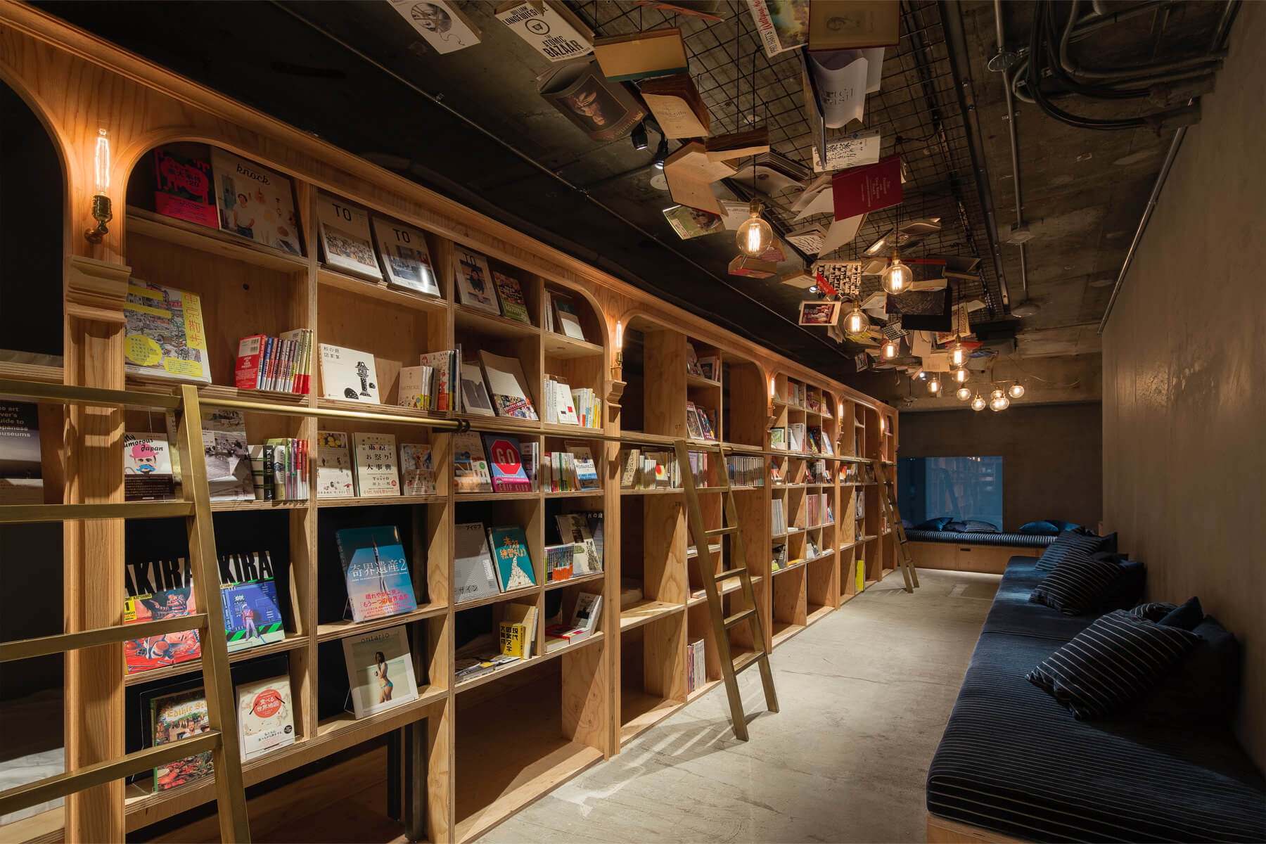 The Book and Bed hostel in Tokyo. Image from www.bookandbedtokyo.com