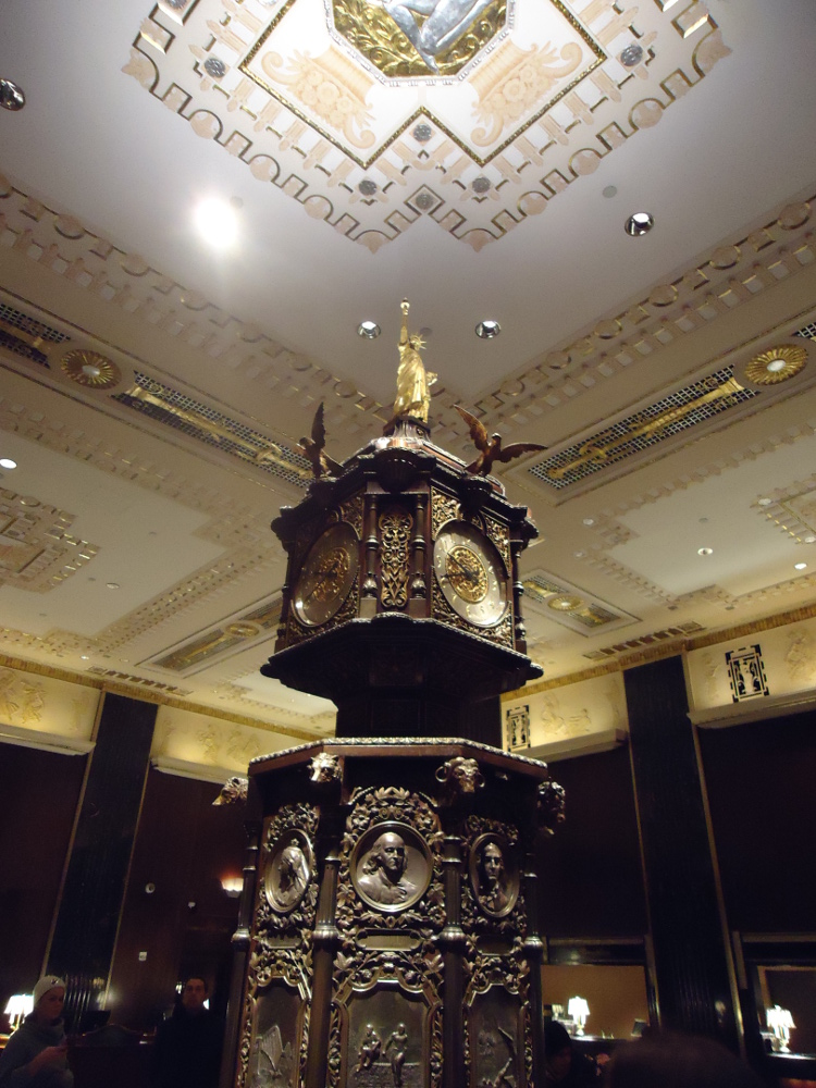 "In the ""men's"" lobby of the Waldorf=Astoria. Image taken by Jen."