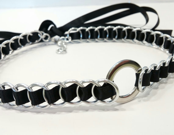 Example of a BDSM day collar. Item designed by TheCagedFlower on Etsy.