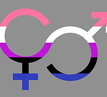 Genderfluid symbol courtesy of redbubble.
